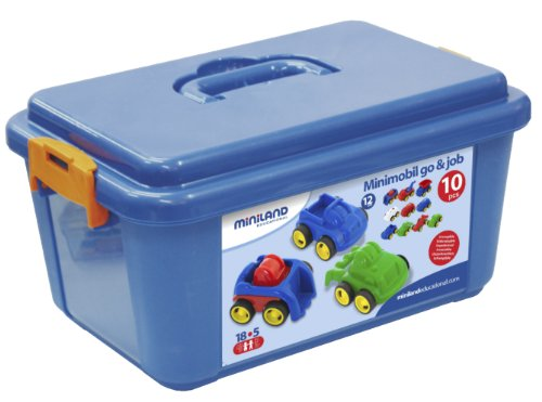"Miniland School Set Minimobil, 4 1/4"", 10-Units/Container"