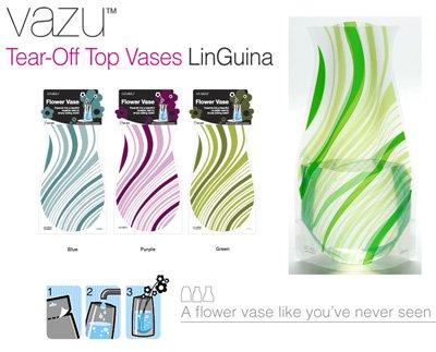 Flower Vase LinGuina Green Vazu Vases