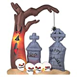 8ft Airblown Inflatable Halloween Graveyard ~ Gemmy