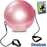 Reebok Gym Ball with Resistance Bands, Workout Chart, DVD and Pump