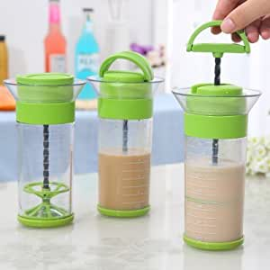 Sauces Universal Mixer Handhold Stirrer Easy Beater with Measuring Cup - GREEN