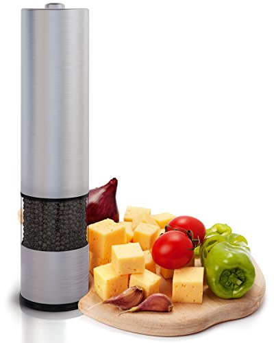 Cyber Deal - Eukein Electric Pepper Grinder or Salt Grinder Mill Battery Operated with Light At Bottom