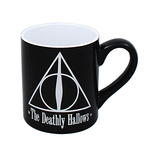 Silver Buffalo HP2332Z Harry Potter and the Deathly Hallows Ceramic Mug, 14 oz, Black (Deathly Hallows Merchandise compare prices)