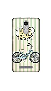 Joovvi Premium Bicycle Printed Designer Mobile Case/Cover For Redmi note 3