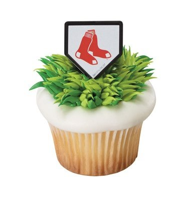 MLB Boston Red Sox Cupcake Rings - 24 pcs