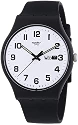 Swatch Twice Again White Dial Plastic Silicone Quartz Ladies Watch SUOB705