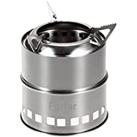 Forfar Camping Stove Portable Stainless Steel Lightweight Folding Wood