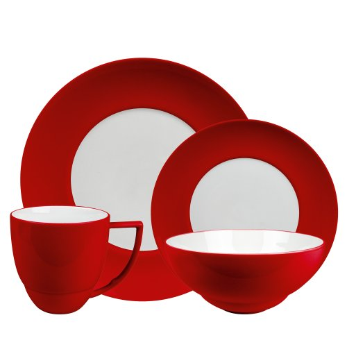 Waechtersbach Uno 16-Piece Dinnerware Set, Chili