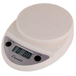 Primo Digital Kitchen Scale 11Lb/5Kg, White