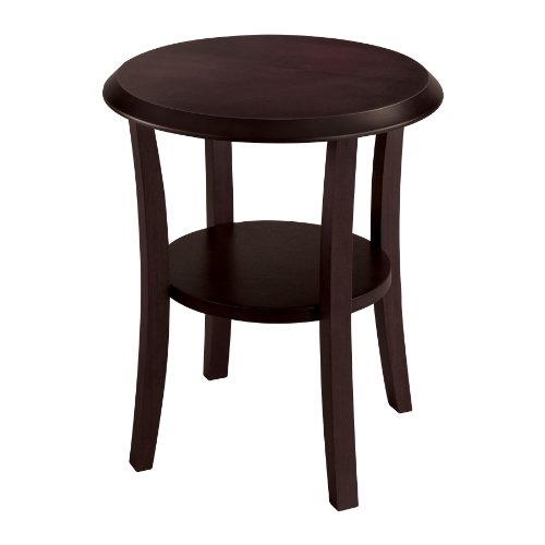 Luxury Safco Wood End Table Round Mahogany MH