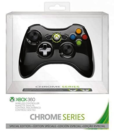 Official Xbox 360 Wireless Controller - Chrome Black (Xbox 360)
