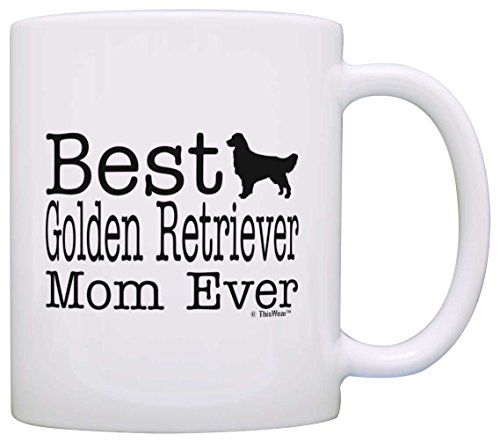 Dog Lover Gifts Best Golden Retriever Mom Ever Pet Owner Rescue Gift Coffee Mug Tea Cup White