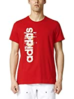 adidas Camiseta Manga Corta Ess Linear (Rojo)