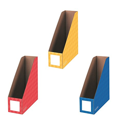 Bankers Box Classroom Magazine File Organizers, 4-Inch, Red Blue and Yellow, 3 Pack (3381701)