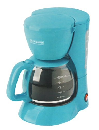 Kitchen Selectives Colors Teal Aqua 5 Cup Coffee Maker
