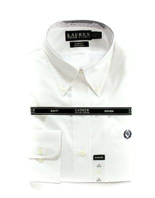 Lauren Ralph Lauren Men's Slim Fit Non-Iron Dress Shirt in White Size 15-32/33