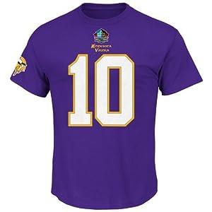 Fran Tarkenton Minnesota Vikings Majestic HOF Player T-Shirt - Purple by Majestic