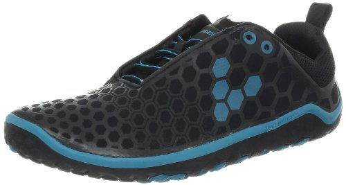 Vivobarefoot Women's EVO Lite Running Shoe,Black/Teal,35 EU/5 M US