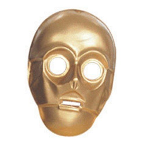 C-3PO Star Wars Mask PVC Face C3PO C3P0 Movie Costume