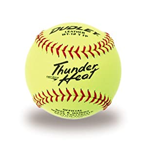 Dudley NCAA Thunder Heat Fast Pitch Leather Soft Ball - Dozen by Dudley