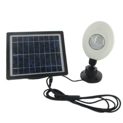Solar Powered 36 Led Rechargeable Wall Mounted Shed Light