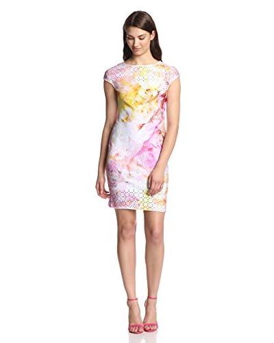 Julia Jordan Women's Laser Cut Techno Sheath Dress