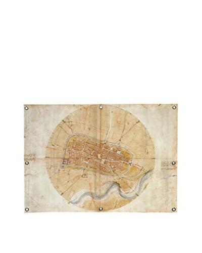 Leonardo Da Vinci Map Of Imola, 1502 Canvas Wall Mural