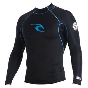 Rip Curl Aggrolite Reversible Long Sleeve Wetsuit Jacket, Small, Black/Blue