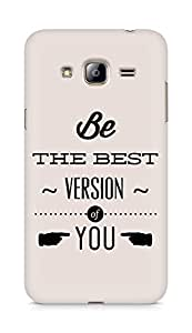Amez Be the Best version of Yourself Back Cover For Samsung Galaxy J3