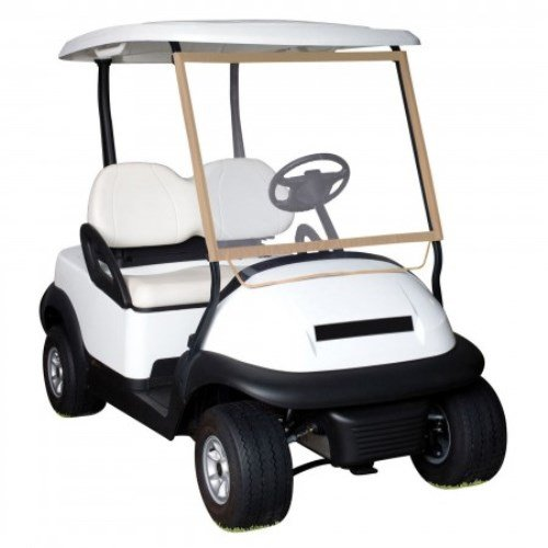 Classic Accessories Fairway Deluxe Portable Golf Cart Windshield, Sand/Clear (Club Car Roof Rack compare prices)