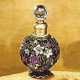 StealStreet SS-A-51615 Floral Crystal Jewel Fragrance Perfume Bottle