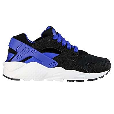 Amazon.com: Nike Air Huarache Run GS (Black/Lyon Blue): Shoes