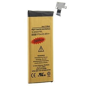 GOLD Haute Capacité Batterie de 2680 mAh pour (Apple iPhone 4S)