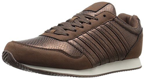 K-Swiss Women's New Haven Snake CMF Fashion Sneaker, Bronze/Off White, 6.5 M US