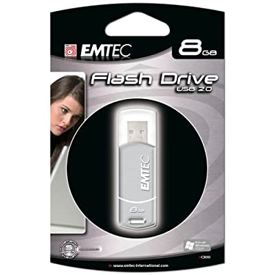 EMTEC C300 Style Series 8 GB USB 2.0 Flash Drive (Silver)
