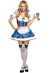 Dreamgirl Women's Sexy Bavarian Maiden Wench Costume, Happy New Beer