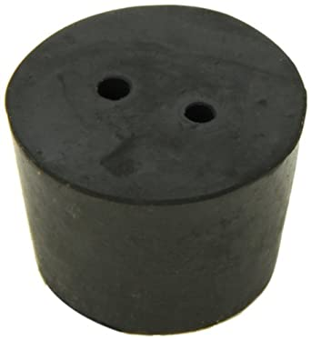 American Educational Imported Black Rubber Stopper with 2-Hole 37mm Top Diameter 30mm Bottom Diameter 7 Size 25mm Length (5 lb Bag)