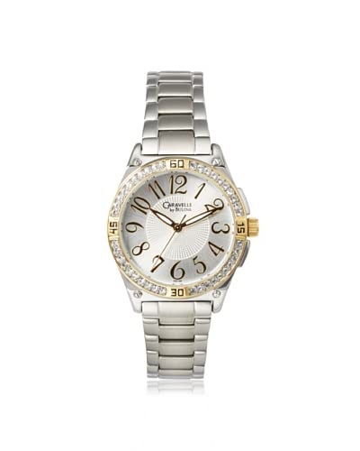 Caravelle by Bulova Women's 45L132 Silver/White Brass Crystal Watch