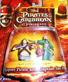 Pirates of the Caribbean At World's End Pirate Captains & Crews Series Singapore Pirate and Captain Sao Feng Figure Set - 1