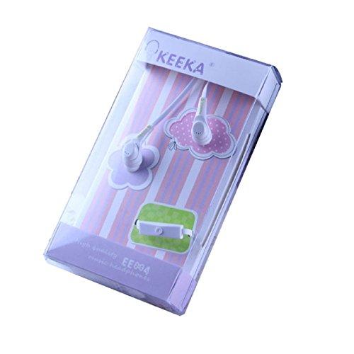 Doinshop New Fashion Keeka In-Ear Earphone Headphone For Iphone Android Smart Phone (White)