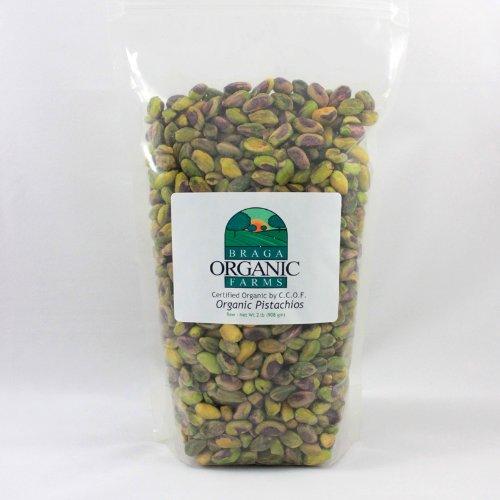 Braga Organic Farms Organic Raw Pistachios Kernels 2 lb. bag