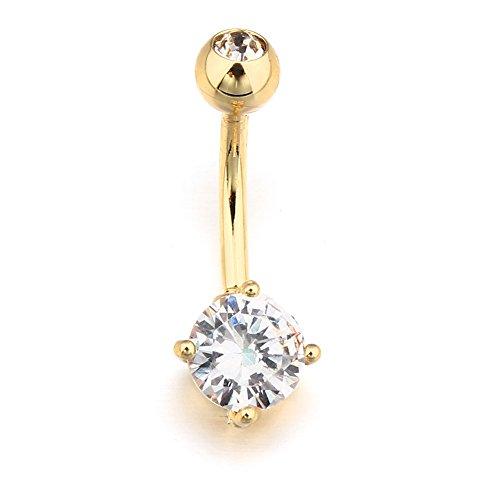 vcmart piercing nombril courbe arcade cristal strass barbell anneau en acier chirurgical 316l. Black Bedroom Furniture Sets. Home Design Ideas