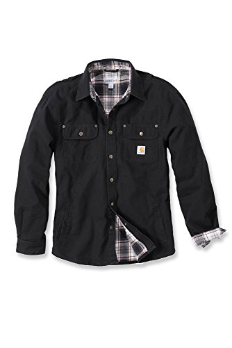 carhartt-arbeitshemd-arbeitsshirt-weathered-canvas-t-shirt-jacket-veste-de-travail-noir-large