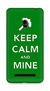 Amez designer printed 3d premium high quality back case cover for Asus Zenfone 5 (Keep calm and Mine Minecraft)