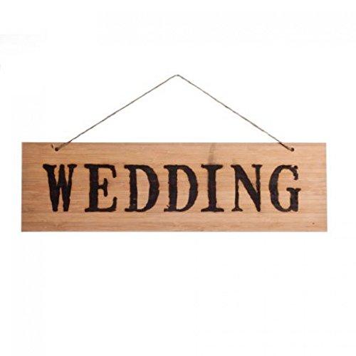Koyal Wholesale Rustic Natural Wood Arrow Wedding Sign, Wedding front-985017