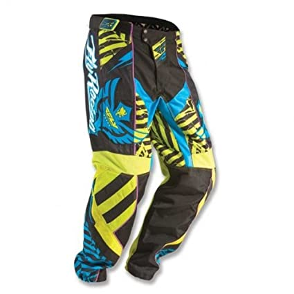 Fly Racing - Pantalon F16 KID LTD - jaune-bleu