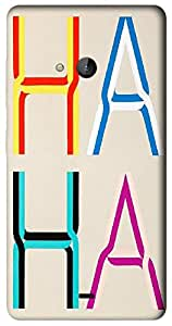 Timpax Protective Hard Back Case Cover With Easy access to all ports Printed Design : Similar alphabets.100% Compatible with Nokia Lumia 540 ( Microsoft Lumia 540 )