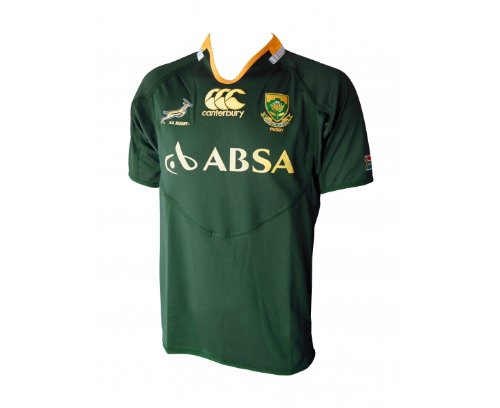 CANTERBURY South Africa 2011/2013 Springboks Adult Home Rugby Pro Short Sleeve Jersey, Green, XXL