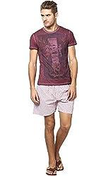 Y.U.V.I. Mens Boxer Shorts (Color-Red)