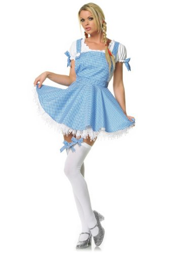 Fairytale Sexy Adult Halloween Costume Naughty Dorothy Dress by Leg Avenue  sc 1 st  Wizard of Oz Costume Fun Family and Group Costumes & Wizard of Oz Costume: Fun Family and Group Costumes